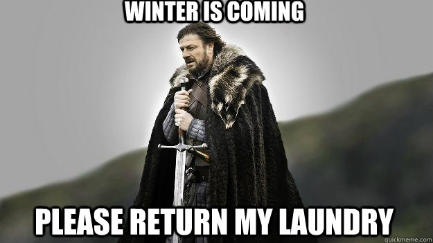 winter is coming please return my laundry - Ned stark winter is coming