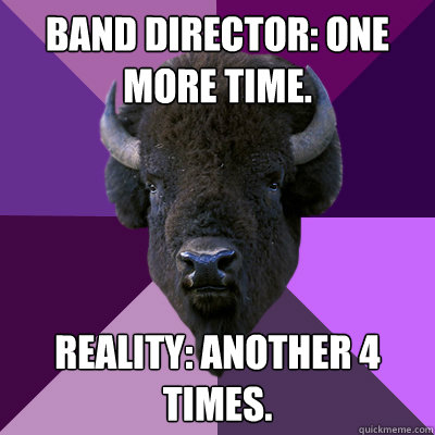 band director one more time reality another 4 times - Band Buffalo