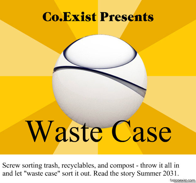 waste case screw sorting trash recyclables and compost t - Tomorrow Vision