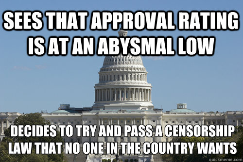 sees that approval rating is at an abysmal low decides to tr - Scumbag Congress