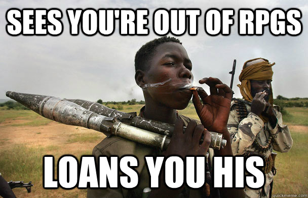 sees youre out of rpgs loans you his - Good Guy Guerilla