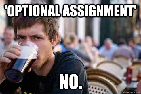 optional assignment no - Lazy College Senior