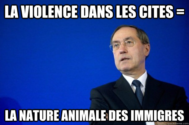 la violence dans les cites la nature animale des immigres - fnump