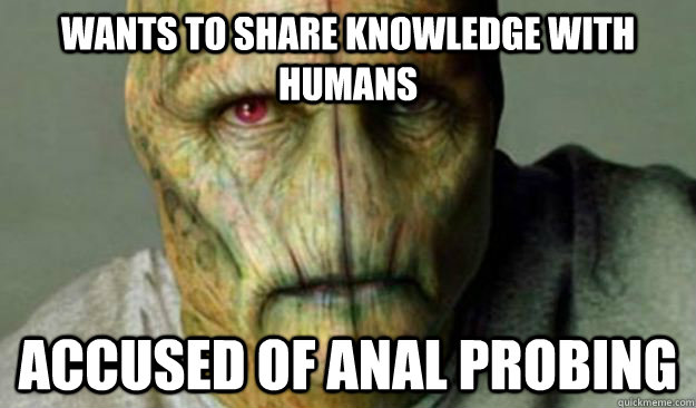 Other World Problems. wants to share knowledge with humans accused of anal ...