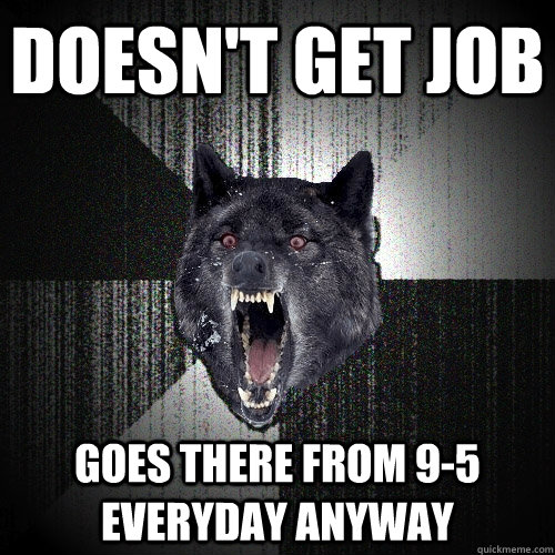 doesnt get job goes there from 95 everyday anyway - Insanity Wolf bangs Courage Wolf