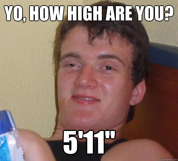 yo how high are you 511 - 10 Guy