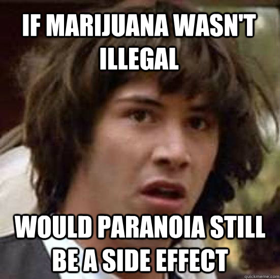 if marijuana wasnt illegal would paranoia still be a side e - conspiracy keanu