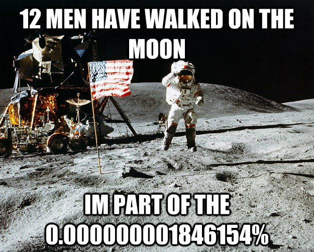 12 men have walked on the moon im part of the 0000000001846 - Unimpressed Astronaut