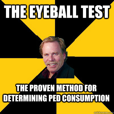 the eyeball test the proven method for determining ped consu - John Steigerwald