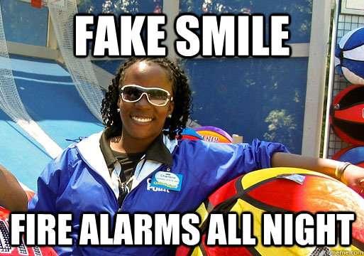 Fake Smile Fire alarms all night - Cedar Point employee ...