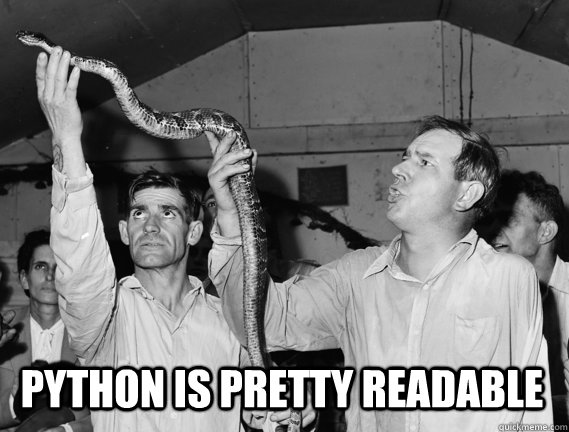 Python is pretty readable