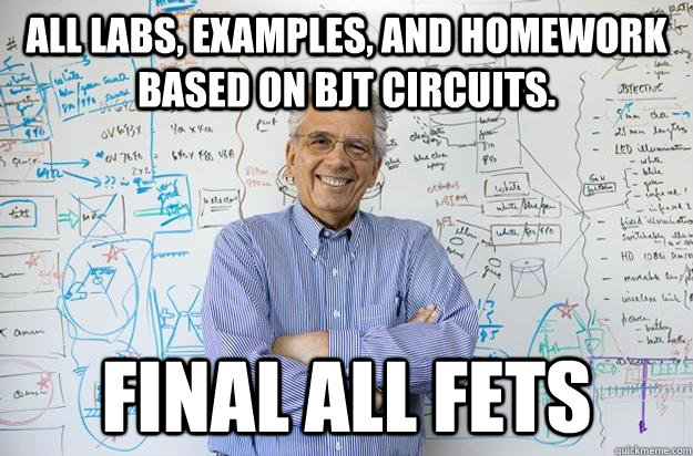 all labs examples and homework based on bjt circuits fina - Engineering Professor