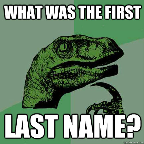 what was the first last name - Philosoraptor
