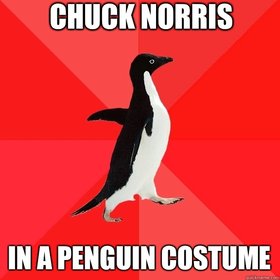 Chuck Norris In a penguin costume - Socially Awesome Penguin