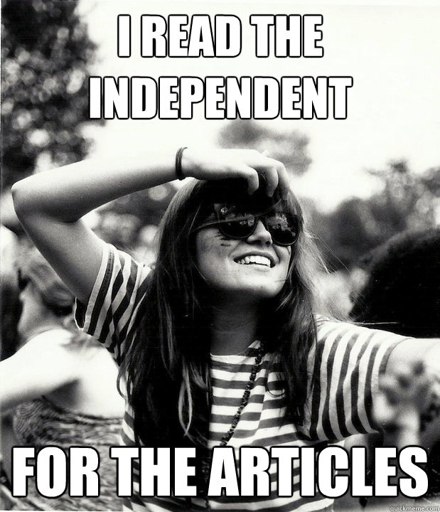 i read the independent for the articles - Georgetown Hipster