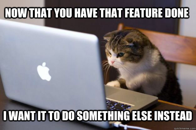 now that you have that feature done i want it to do somethin - Web Developer Cat