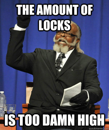 the amount of locks is too damn high - The Rent Is Too Damn High