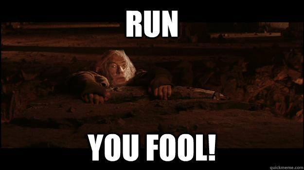 run you fool - Gandalf
