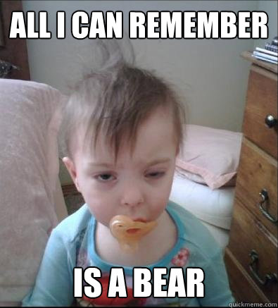 all i can remember is a bear - Party Toddler