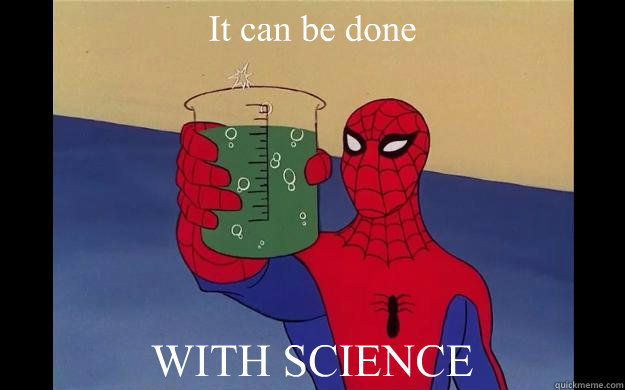 it can be done with science - Spider-Man 60s