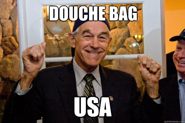 ron paul douche