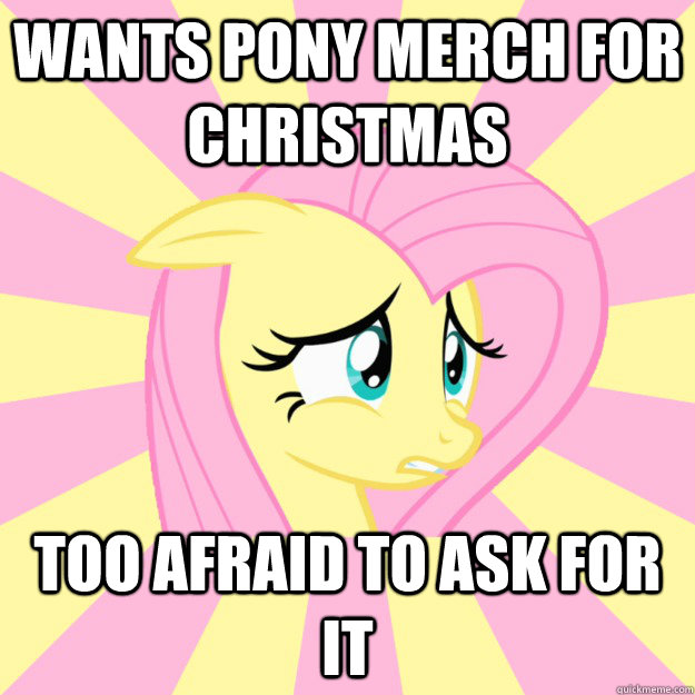 wants pony merch for christmas too afraid to ask for it - Socially awkward brony