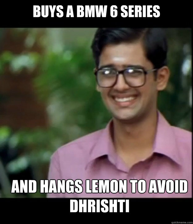 buys a bmw 6 series and hangs lemon to avoid dhrishti captio - Smart Iyer boy