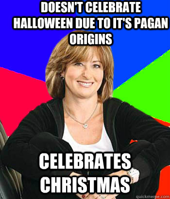 doesnt celebrate halloween due to its pagan origins celebr - Sheltering Suburban Mom