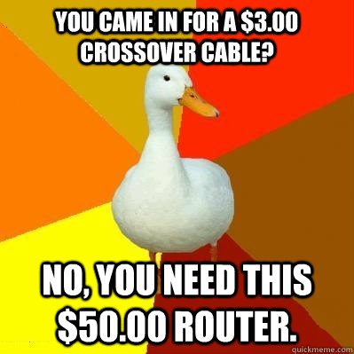 you came in for a 300 crossover cable no you need this  - Tech Impaired Duck