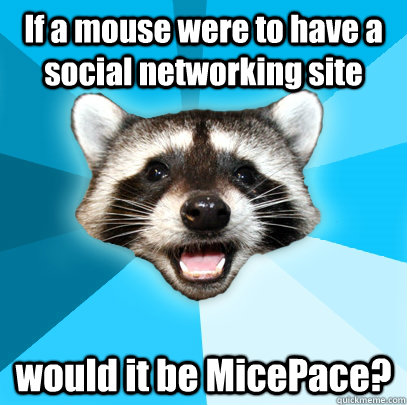 if a mouse were to have a social networking site would it be - Lame Pun Coon