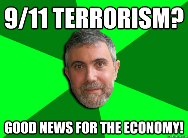 911 terrorism good news for the economy - Advice Krugman