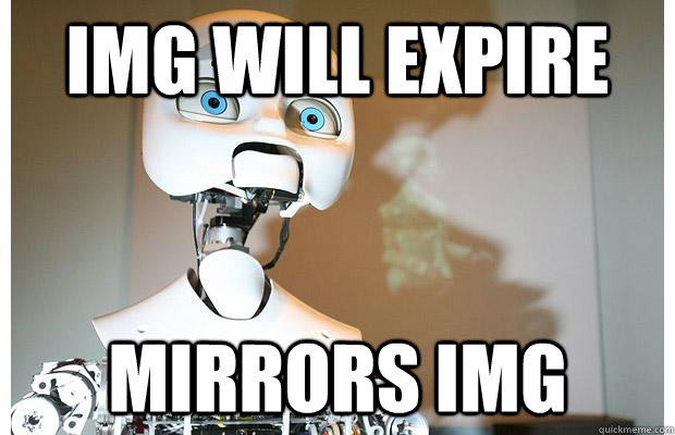 img will expire mirrors img - Good Guy Robot