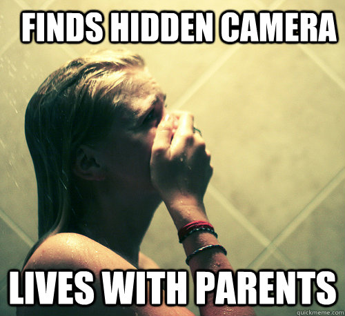hidden camera in shower: