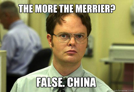 the more the merrier false china - Dwight