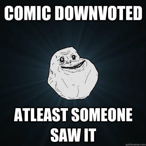 comic downvoted atleast someone saw it - Forever Alone