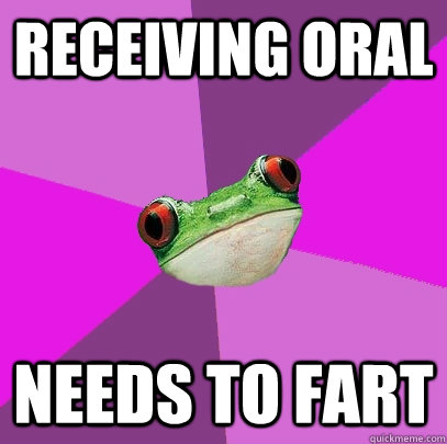 receiving oral needs to fart - Foul Bachelorette Frog