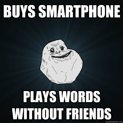 Buys Smartphone Plays words without friends