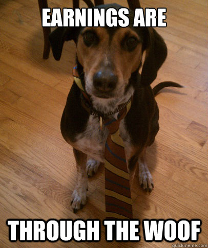 earnings are through the woof - Business Dog