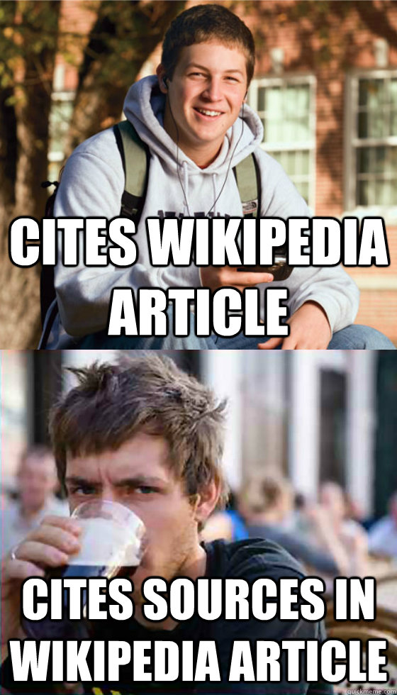 cites wikipedia article cites sources in wikipedia article - Freshman Senior