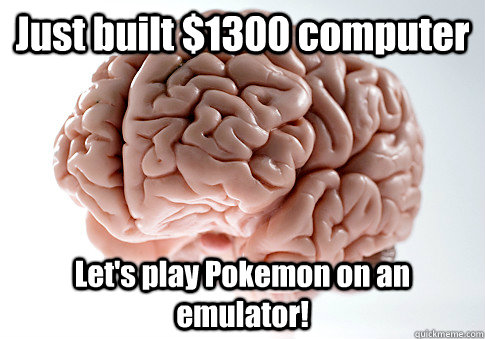 just built 1300 computer lets play pokemon on an emulator - Scumbag Brain