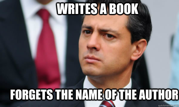 writes a book forgets the name of the author - Clueless