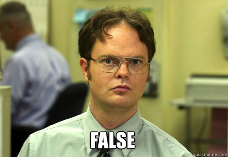 false - Dwight