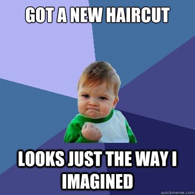 got a new haircut looks just the way i imagined - Success Kid