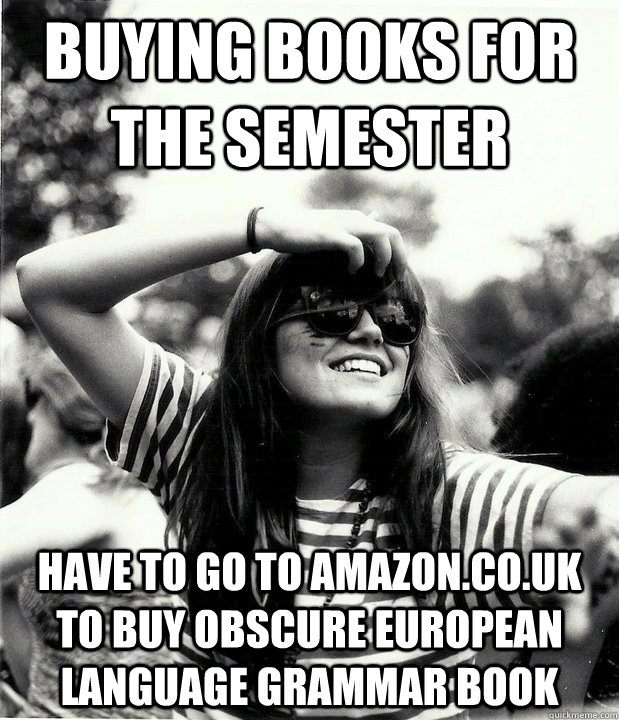 buying books for the semester have to go to amazoncouk to  - Georgetown Hipster