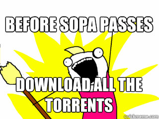 download all the torrents before sopa passes - All The Thigns