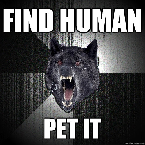 find human pet it - Insanity Wolf
