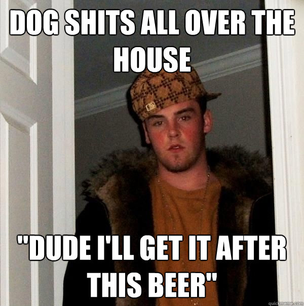 dog shits all over the house dude ill get it after this be - Scumbag Roommate