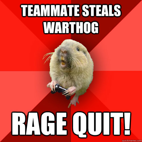 teammate steals warthog rage quit - Gaming Gopher