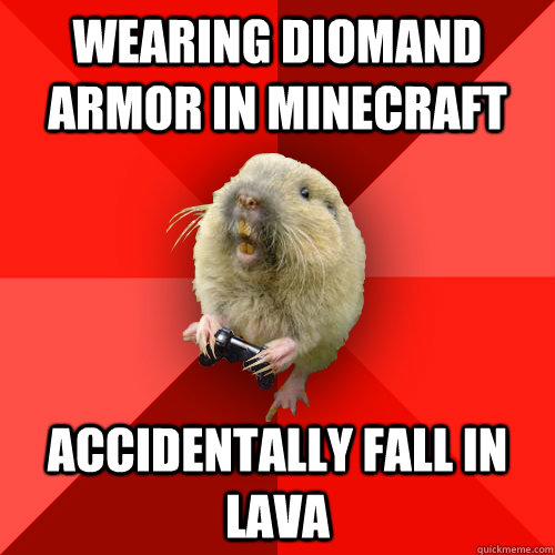 wearing diomand armor in minecraft accidentally fall in lava - Gaming Gopher