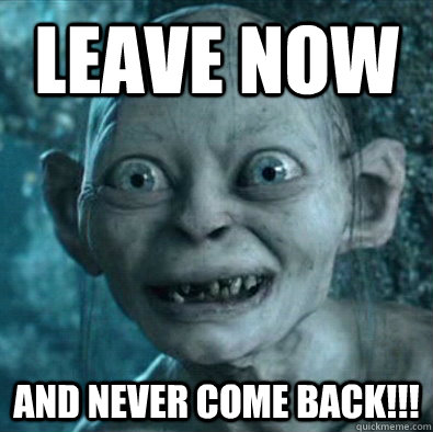 leave now and never come back - Gollum 11